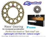 520 Pitch RACE GEARING: Renthal Sprockets & GOLD Alpha X-Ring Chain - Triumph Daytona 675R (13-16)
